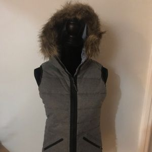 Burton vest w/hood XS Vesta Vest High Rise Heather